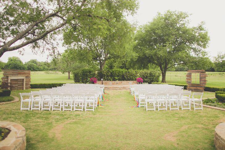 Simple Outdoor Ceremony Decor