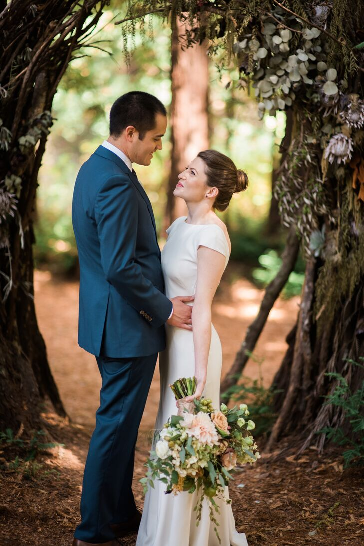 Tina Drake and BJ Thompson's whimsical woodland wedding was jam-packed with polished bohemian appeal. From the floral arrangements filled with texture