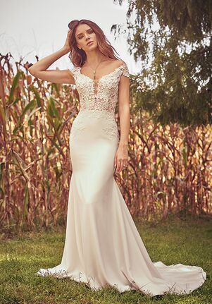 120d6b94bc6b Off-the-Shoulder Wedding Dresses | The Knot