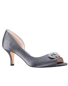 Nina Bridal Madolyn_Stone Satin Black, Blue, Red Shoe