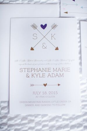 Arrow Monogram Wedding Invitations