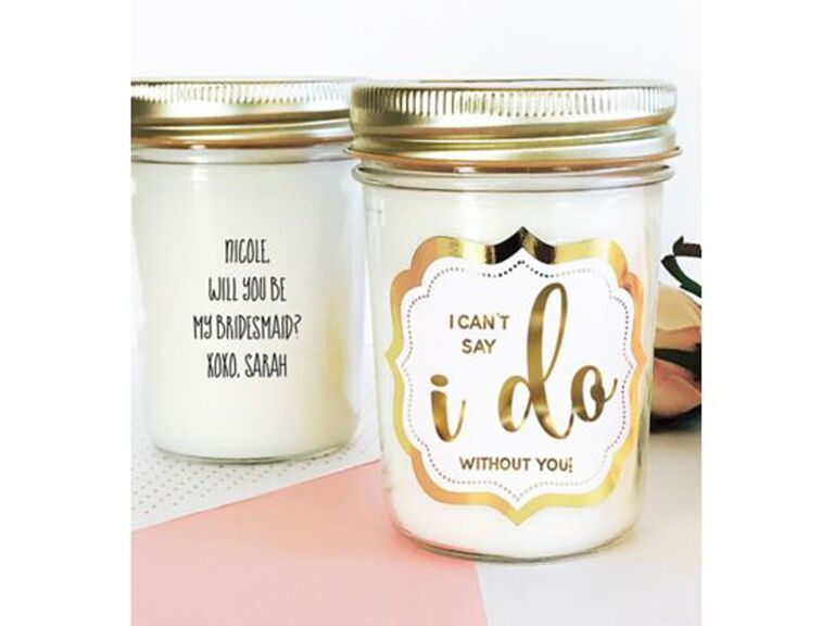 Mason Jar Candle  sc 1 st  The Knot : asking to be bridesmaid gifts - princetonregatta.org