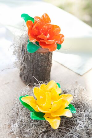 Handmade Plastic Rose Centerpieces