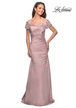 La Femme Evening 25996 Champagne Mother Of The Bride Dress