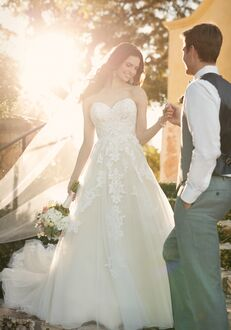 Essense of Australia D2121 A-Line Wedding Dress