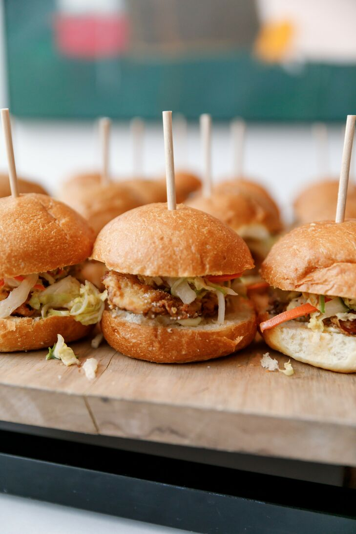 Burger Sliders for Wedding at South Congress Hotel in Austin, Texas