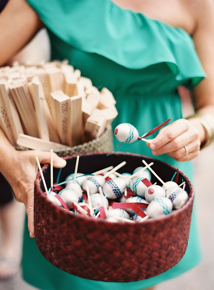 Maraca and Wooden Fan Favors