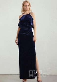 CocoMelody Bridesmaid Dresses RB0345 Halter Bridesmaid Dress