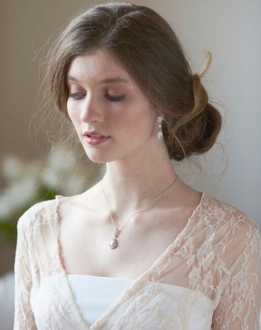 Dareth Colburn Madeline CZ Pendant Jewelry Set (JS-1694) Wedding Necklaces photo