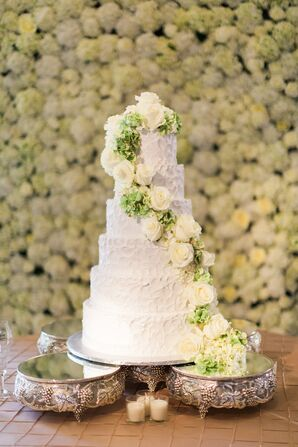 Classic Buttercream Cake with Cascading Hydrangeas