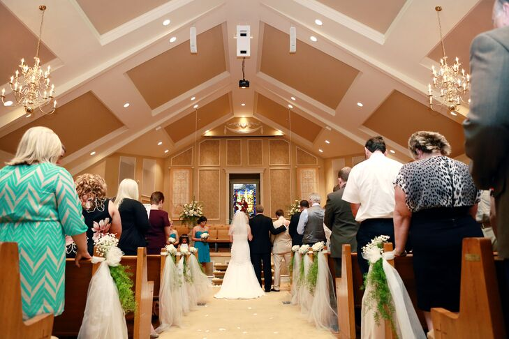 The ceremony took place at Fellowship Chapel in Bristol, Virginia. Molly's parents were married in the same chapel years earlier.