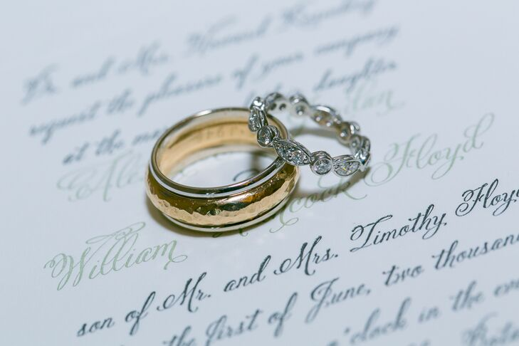 Gold and Silver Infinity Wedding Bands