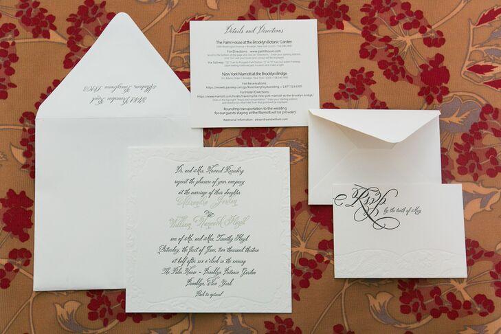 Elegant Black-and-White Wedding Invitation Suite