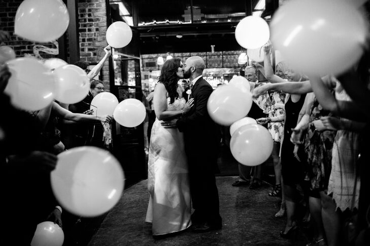 Couple's Exit at Hotel Sorella with Balloons