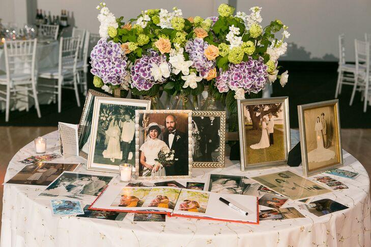 Vintage Wedding Photos Guest-Book Table