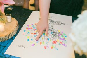 Colorful Fingerprint Guest Book