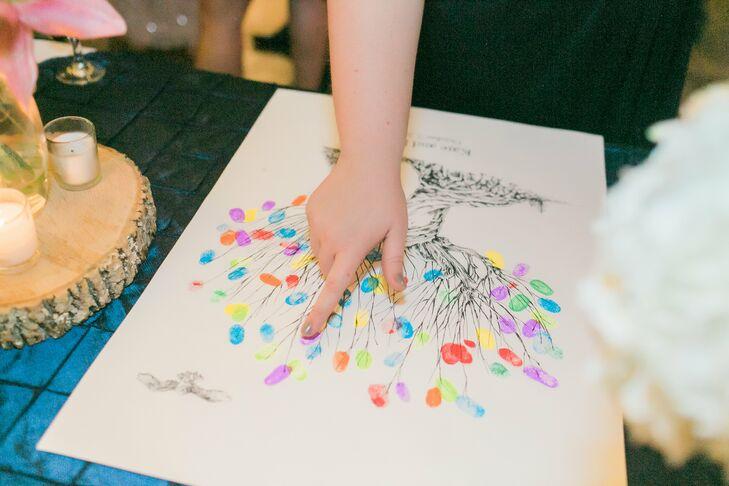 Colorful Fingerprint Guest Book