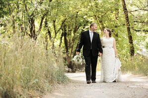 Bride and Groom Walk in Natural Utah Landscape