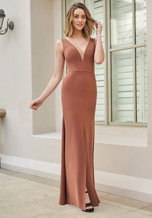 B2 Bridesmaids by Jasmine B233063 V-Neck Bridesmaid Dress