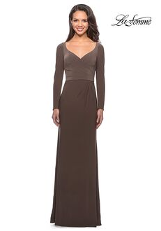 La Femme Evening 25598 Brown Mother Of The Bride Dress