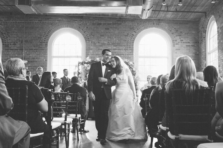 Asymmetrical Design Wedding Gown