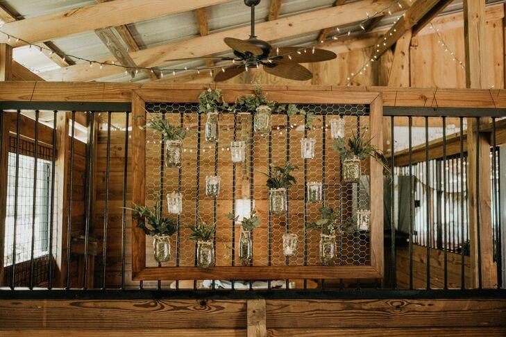 Suspended Mason Jar Planter Display