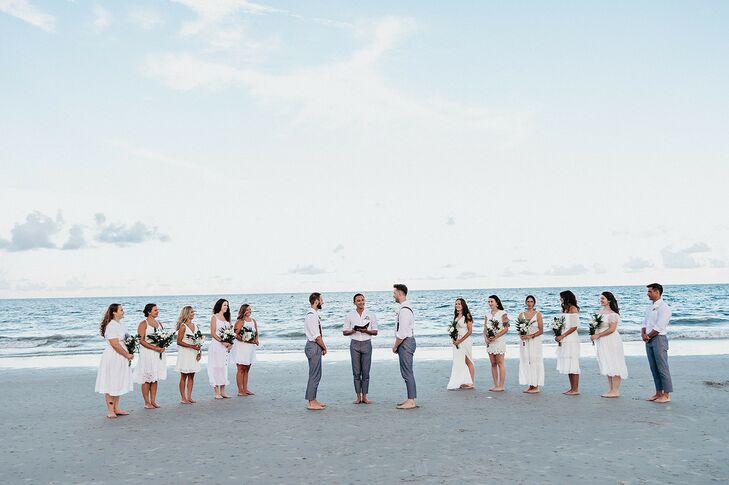 LGBTQ+ Wedding Ceremony on Tybee Island in Georgia