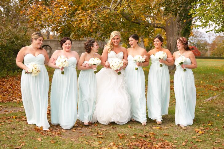 a49ac3b4843 Floor Length Mint Green Bridesmaids Dresses