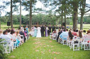 Wedding Ceremony at Timber Creek Camp in Pulaski, Mississippi