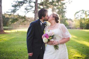 Bride and Groom at Timber Creek Camp in Pulaski, Mississippi