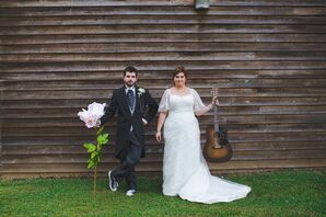 Whimsical Bride and Groom at Timber Creek Camp in Pulaski, Mississippi