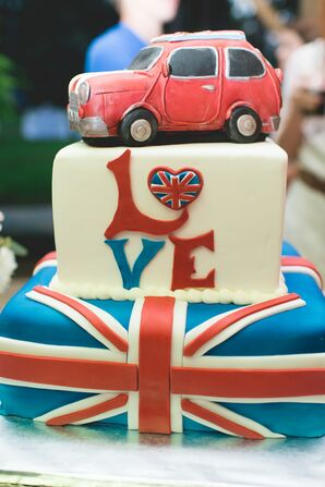 Whimsical English-Inspired Groom's Cake