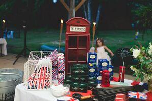 English Wedding Favor Table Display
