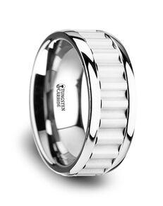 Mens Tungsten Wedding Bands W3762-TCCI Tungsten Wedding Ring