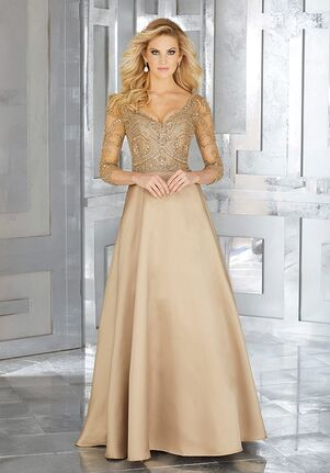 Gold Mother Of The Bride Dresses Knot