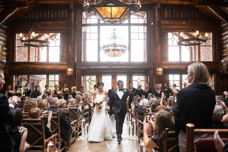 To set a warm and welcoming tone for the evening, the festivities kicked off with a ceremony in Whiteface Lodge's Kanu venue in Lake Placid, New York. Impressive cathedral ceilings, granite fireplaces and exposed wooden beams, gave the expansive space an intimate, homey vibe, while reflecting the day's overall theme. As a bonus, the floor-to-ceiling windows gave way to acres of snow-dusted landscape, with the Adirondack Mountains lying just beyond.