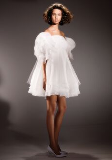 Viktor&Rolf Mariage DRAPED ROSE BABY DOLL Ball Gown Wedding Dress