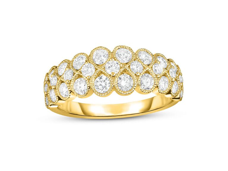 Zales diamond infinity vintage-style engagement ring in 14K yellow gold