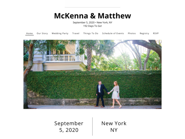 Between the Lines Wedding Website Template, The Knot