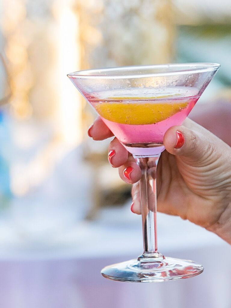 pink cocktail bachelorette party idea