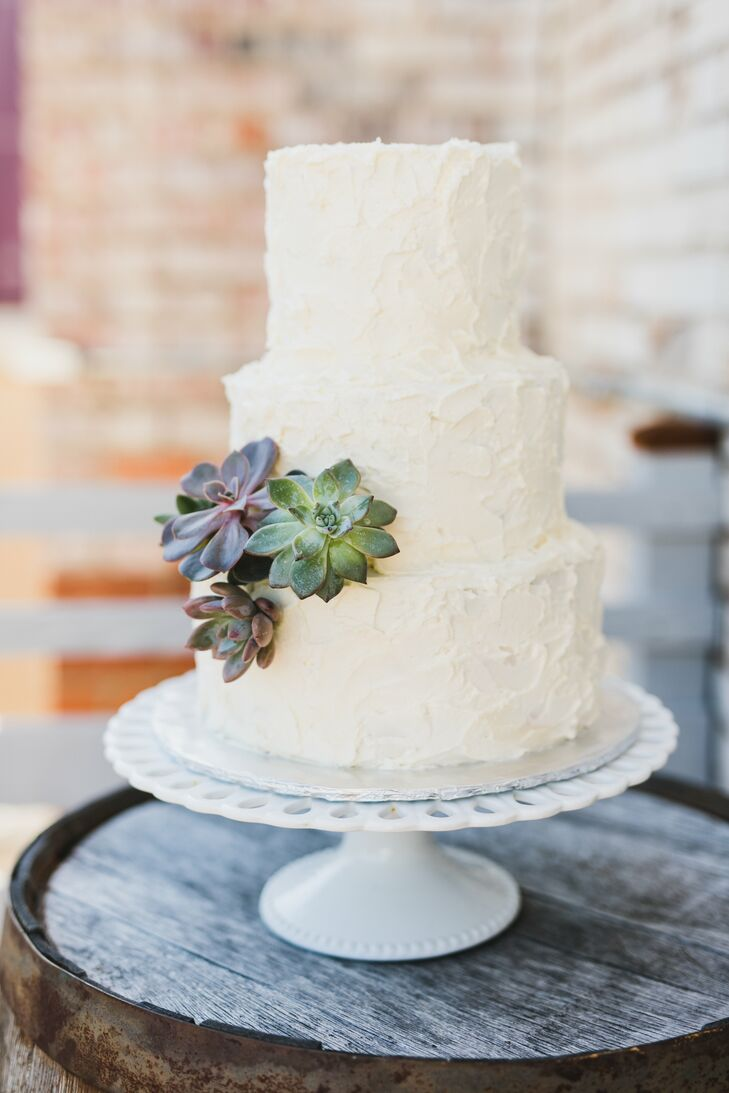 Homemade Buttercream Cake with Succulents