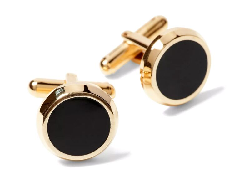 Banana Republic gold & enamel cufflinks