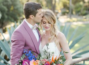 With their relationship born out of a shared love of animals, Jessica McIntosh and Bryan Gilbreath chose the lush Santa Barbara Zoo to serve as the ba
