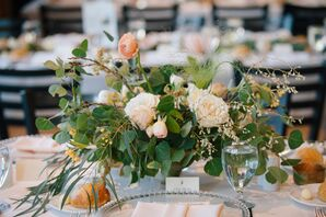 Greenery-Filled Centerpieces With Peonies