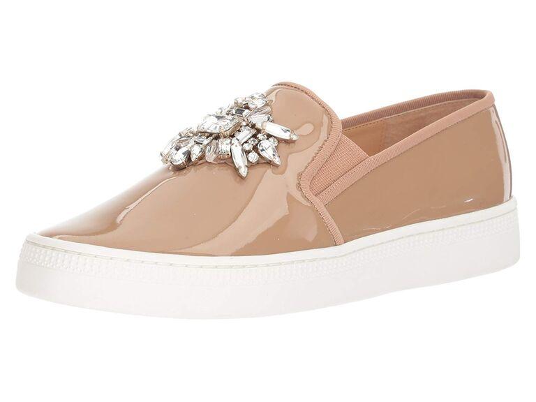 Patent wedding sneakers