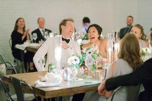 Modern Wedding Reception at SKYLIGHT in Denver, Colorado