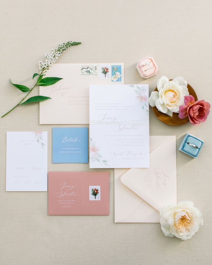 Colorful Invitation Suite at Wente Winery Wedding