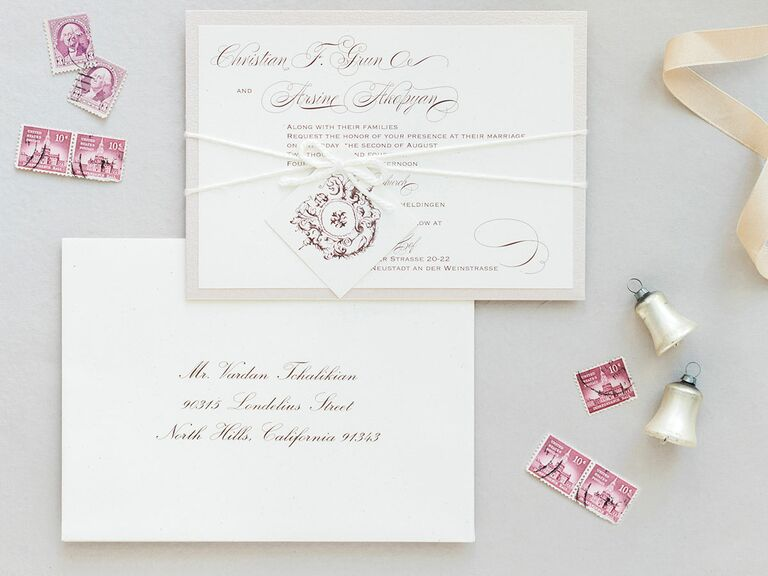 Wedding Invitations And Stamps