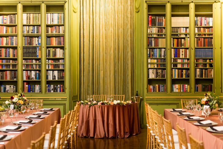 Reception in Library at The Meridian House in Washington, D.C.
