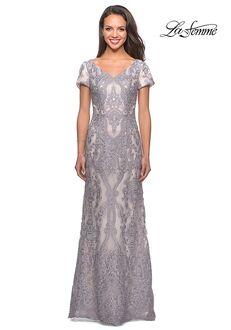La Femme Evening 26708 Gray Mother Of The Bride Dress